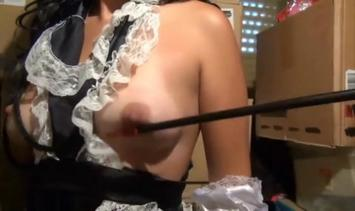 Obedient and helpful maid BDSM Caned