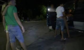 Dogging public sex of a married couple outdoor