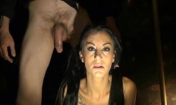Big Boobs Brunette, BDSM and submission with facial cum