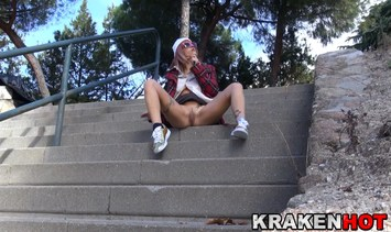 Outdoor voyeur video of a hot young girl at the park